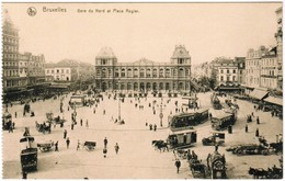 Brussel, Bruxelles, Gare Du Nord, Attelages, , Tram, Tramways (pk35226) - Spoorwegen, Stations