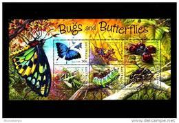 AUSTRALIA - 2003  BUGS AND BUTTERFLIES  MS  OVERPRINTED  BANGKOK  MINT NH - Blocchi & Foglietti