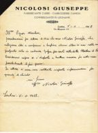 NICOLOSI GIUSEPPE - FABBRICANTE CARRI - CARROZZERIE CAMION - LENTINI 1948 - Unclassified