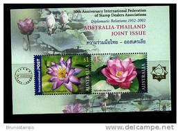AUSTRALIA - 2002 AUSTRALIA-THAILAND JOINT ISSUE MS OVERPRINTED IFSDA   MINT NH - Blocchi & Foglietti