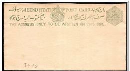 Jhind (Stato Indiano, Stato Indiano, État Indien): Intero, Stationery, Entier - Jhind