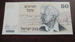 Israel-sheqel-fifty Issue-(1978-1979)-(50sheqel David Ben Gurion-number Note-5444448048)-u.n.c - Israel