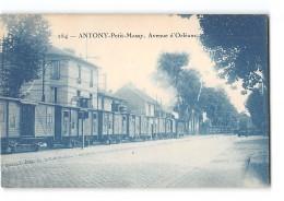 CPA 92 Antony Petit Massy Avenue D'Orleans Et Le Tramway Ligne De Paris Arpajon - Antony