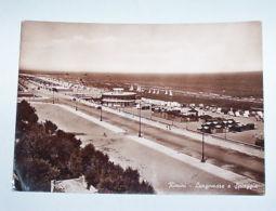 Cartolina Rimini - Lungomare E Spiaggia 1950 Ca - Rimini