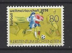 LIECHTENSTEIN . YT 549 Neuf ** Coupe Du Monde De Football 1974 - Liechtenstein
