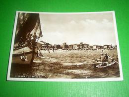 Cartolina Viserba - La Spiaggia 1938 - Rimini