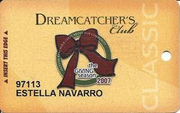 Jackson Rancheria Casino - Jackson CA - Christmas 2007 Slot Card - Casino Cards