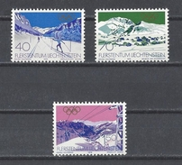 LIECHTENSTEIN . YT 679/681 Neuf ** Jeux Olympiques D'hiver à Lake Placid 1979 - Liechtenstein