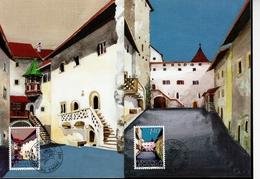 Liechtenstein MK/Nr. 73 Schloss Vaduz 2 Maximumkarten - Maximum Cards