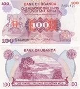 Uganda - 100 Shillings 1982 Pick 19b UNC Ukr-OP - Uganda