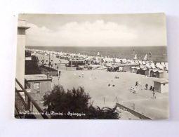 Cartolina Miramare Di Rimini - Spiaggia 1956 - Rimini