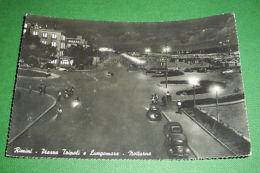 Cartolina Rimini - Piazza Tripoli E Lungomare (notturno) 1954 Ca - Rimini