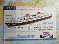 Simmons France De La Cie Générale Transatlantique 1 - Buvards, Protège-cahiers Illustrés