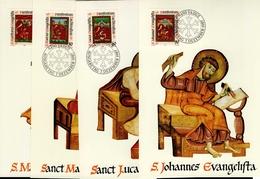 Liechtenstein MK/Nr. 78 Weihnachten 4 Maximumkarten - Maximum Cards