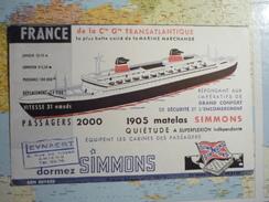 Simmons France De La Cie Générale Transatlantique 2 - Buvards, Protège-cahiers Illustrés
