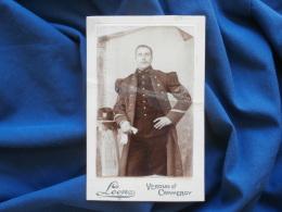 Photo CDV Léon à Verdun... - Militaire Sergent Du 148e RI Circa 1900 L310A - Photographs
