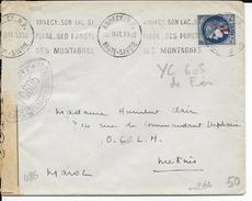 1941 - ENVELOPPE Par AVION De ANNECY (HTE SAVOIE) Avec CENSURE => MEKNES (MAROC) - Guerra Del 1939-45