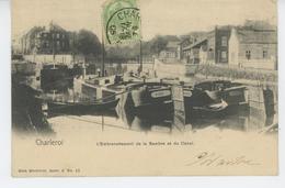 BELGIQUE - CHARLEROI - L'Embranchement De La Sambre Et Le Canal (péniches ) - Charleroi