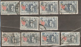 Malaya 1957 SG 1 Good Fine Used, Sound Copies X10 - Timbres