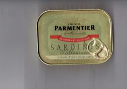 Boîte Sardines Millésimées 2014 SAN  ANTONIO - Hyacinthe PARMENTIER - Puxisardinophilie Clupéidophilie - - Altre Collezioni