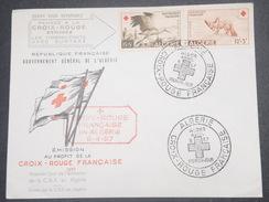 FRANCE / ALGÉRIE - Enveloppe FDC De La Croix Rouge En 1957 - L 8644 - Algérie (1924-1962)
