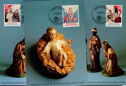 Liechtenstein MK/Nr. 85 Weihnachten 3 Maximumkarten - Maximum Cards