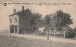 Rhées-Herstal  Maison Ou Furent Soignés Les Blessés En 1914 N'a Pas Circulé - Herstal