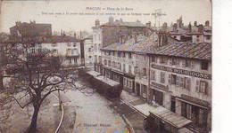 71. MACON . PLACE DE LA BARRE . HOTEL DE BOURGOGNE . CAFE BLANOT . COMMERCES - Macon