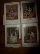 """Années 1889-1900 : 3 Images   """"AU BON MARCHE """" - Victorian Die-cuts"""