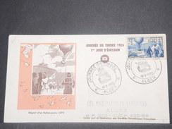 FRANCE/ ALGÉRIE - Enveloppe FDC De La Journée Du Timbre De Alger En 1955 - L 8649 - Algérie (1924-1962)
