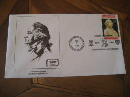 GEORGE WASHINGTON USA President Celebrities Celebrites ALBANY 1989 Cancel Cover USA - George Washington