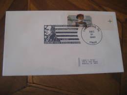 GEORGE WASHINGTON USA President Celebrities Celebrites LANCASTER 1982 Cancel Cover USA - George Washington