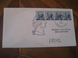 GEORGE WASHINGTON USA President Celebrities Celebrites BOWIE 1982 Cancel Cover USA - George Washington