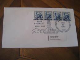 GEORGE WASHINGTON Masonic Mason USA President Celebrities Celebrites ALEXANDRIA 1982 Cancel Cover USA - George Washington