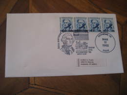 GEORGE WASHINGTON USA President Celebrities Celebrites RICHMOND 1982 Cancel Cover USA - George Washington