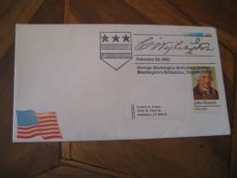GEORGE WASHINGTON USA President Celebrities Celebrites BIRTHPLACE Virginia 1982 Cancel Cover USA - George Washington