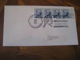 GEORGE WASHINGTON USA President Celebrities Celebrites NAPLES 1982 Cancel Cover USA - George Washington