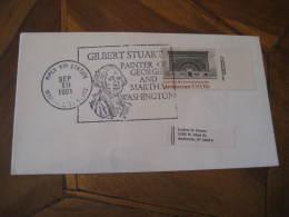 GEORGE WASHINGTON USA President GILBERT STUART Painter Celebrities Celebrites 1981 Cancel Cover USA - George Washington