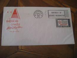 GEORGE WASHINGTON USA President Celebrities Celebrites ALEXANDRIA 1961 Cancel Cover USA - George Washington
