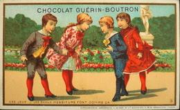 Chromo & Image - Chromo. - Tour Doré - Chocolat Guérin-Boutron - Les Jeux - En TB. état - Guerin Boutron