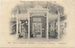 D 13. MARSEILLE. EXPO INTERNATIONALE D ELECTRICITE DE 1908 AU DOS PHOTO - Exposition D'Electricité Et Autres