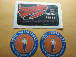Etiquetas Hotel Puerto Varas Santiago De Chile - Hotel Labels