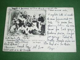 Cartolina Musica Napoli - Compagnia Savoia ( Dir. Anton Crolla ) 1901 - Napoli