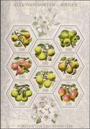 2016 Liechtenstein Mi. 1806-13 **MNH  . Alte Obstsorten (II): Birnen - Blocks & Sheetlets & Panes