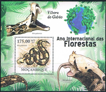 Bloc Sheet Serpents Snakes Neufs MNH ** Mozambique 2011 - Slangen
