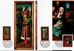 Liechtenstein MK/Nr. 91 Weihnachten 3 Maximumkarten - Maximum Cards