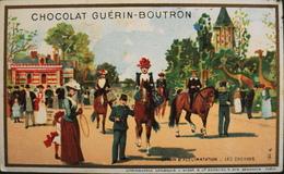 Chromo & Image - Chromo. - Tour Doré - Chocolat Guérin-Boutron - Les Chevaux - En TB. état - Guerin Boutron
