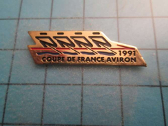 Pin0317 Pin´s Pins / Beau Et Rare : AVIRON COUPE DE FRANCE 1991  ,  Marquage Au Dos : -   - - Rowing