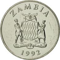 Zambie, 25 Ngwee, 1992, British Royal Mint, FDC, Nickel Plated Steel, KM:29 - Zambie