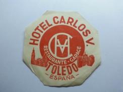 Etiquetas Hotel Carlos V, Toledo España - Hotel Labels